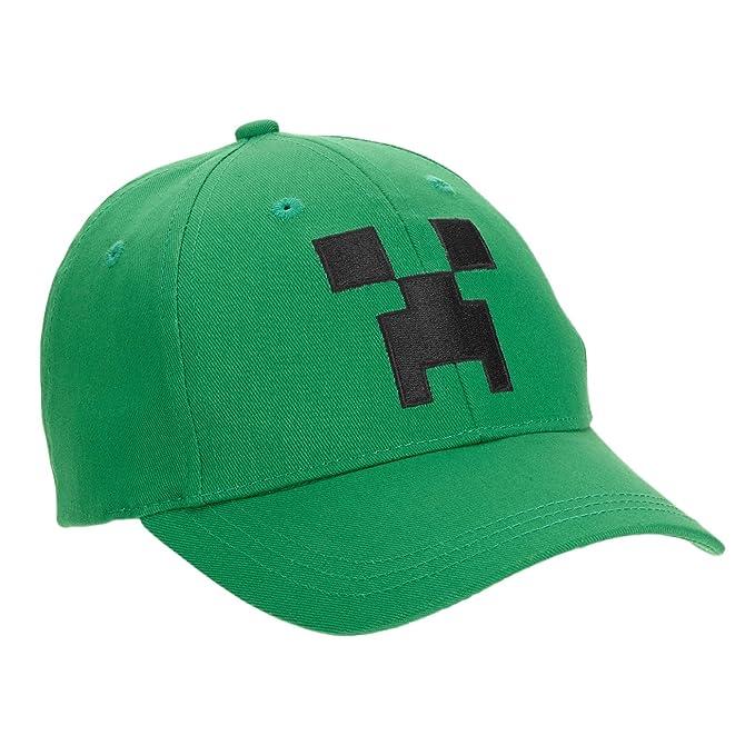 Amazon.com  Mad Engine Minecraft Creeper Little Boys Snap Back ... 356efbd54209