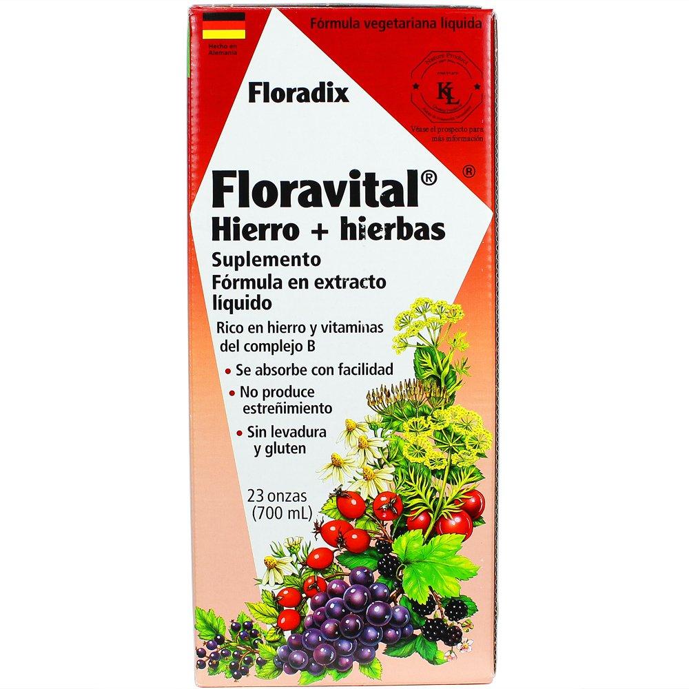 Flora - Hierro y hierbas de Floravital - 23 oz.: Amazon.es: Alimentación y bebidas