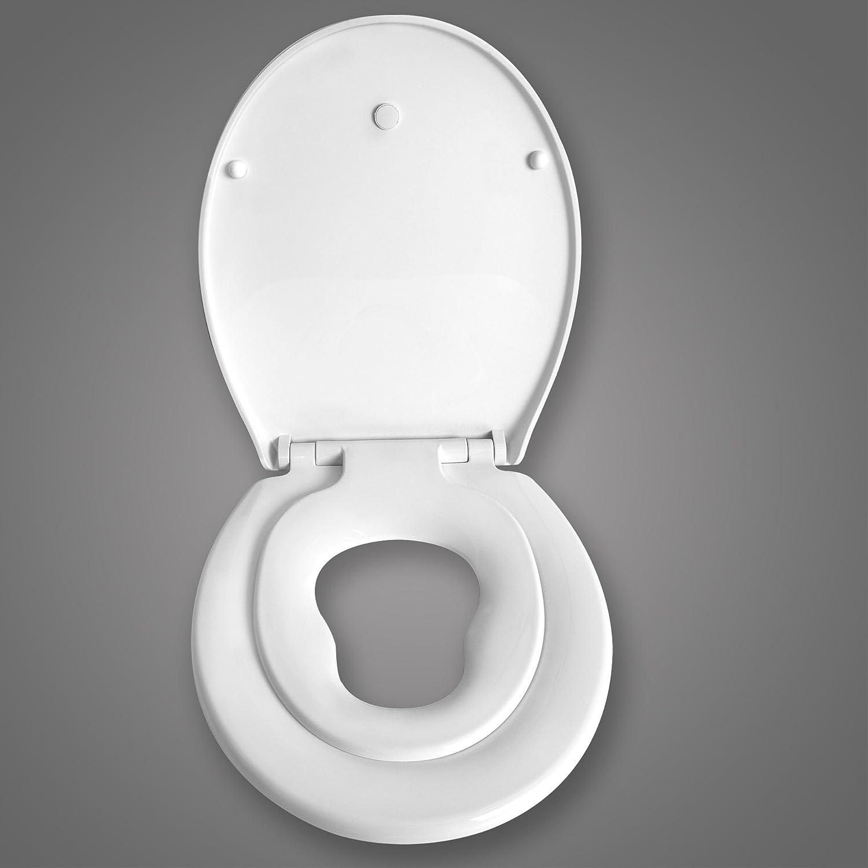 SITU STS0179 WC-Sitz Toilettendeckel Toilettensitz Toilettenbrillel mit Kindersitz Absenkautomatik Kunststoff