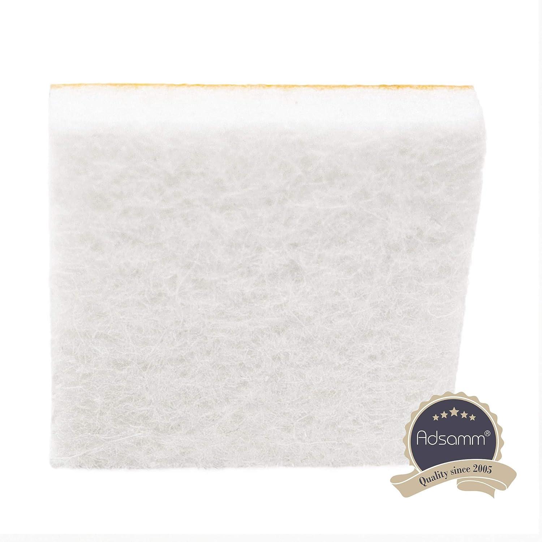 quadrati blanco 25x25 mm 4 x almohadillas de fieltro de Adsamm/® 5.5 mm Patas de muebles adhesiva de la m/áxima calidad