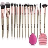 MAANGE Brochas de Maquillaje Professional 14 Piezas Premium Suaves y Firmes Brochas para Maquillaje Practicas Brochas…