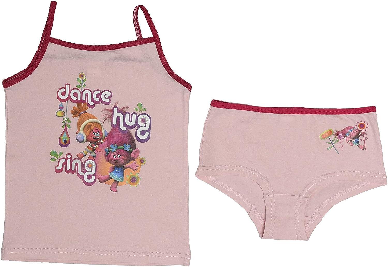 Trolls Kids Girls Poppy Underwear Set Pink Age 4-10 Years