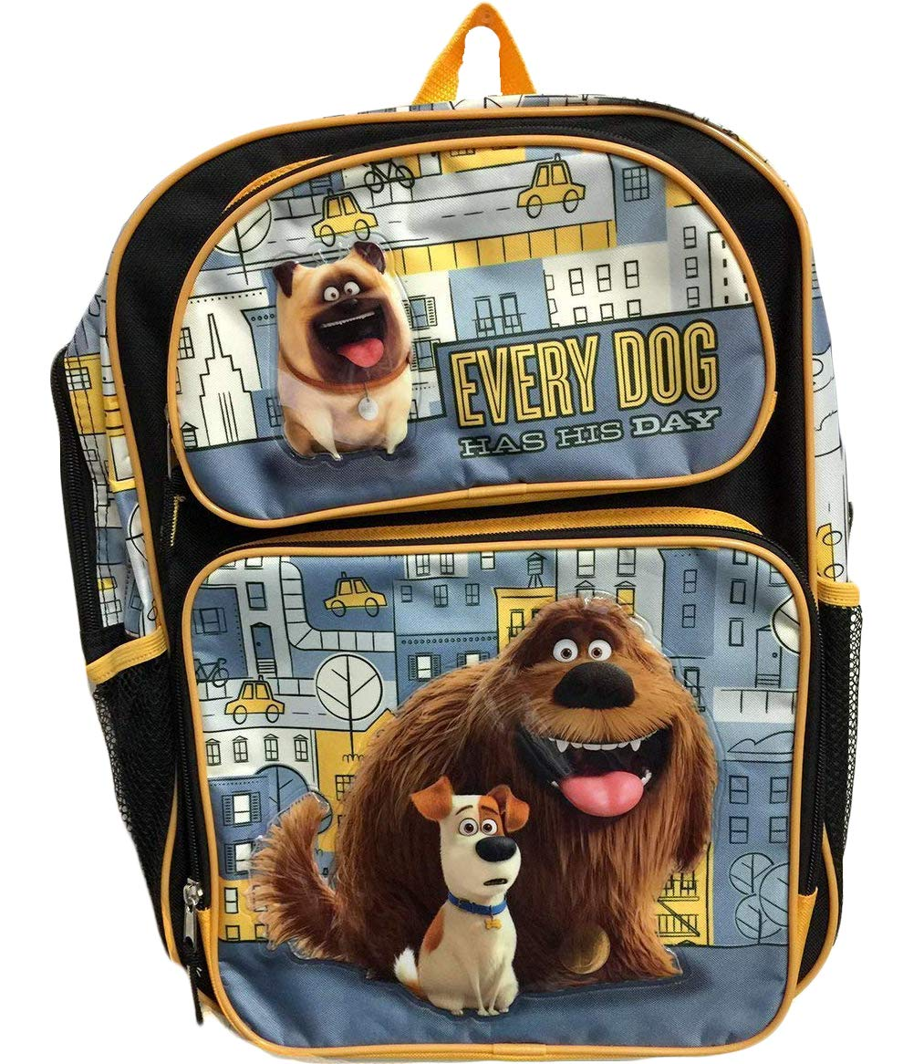 The Secret Life of Pets 16inch Large Backpack -Max, Duke, Mel Ruz