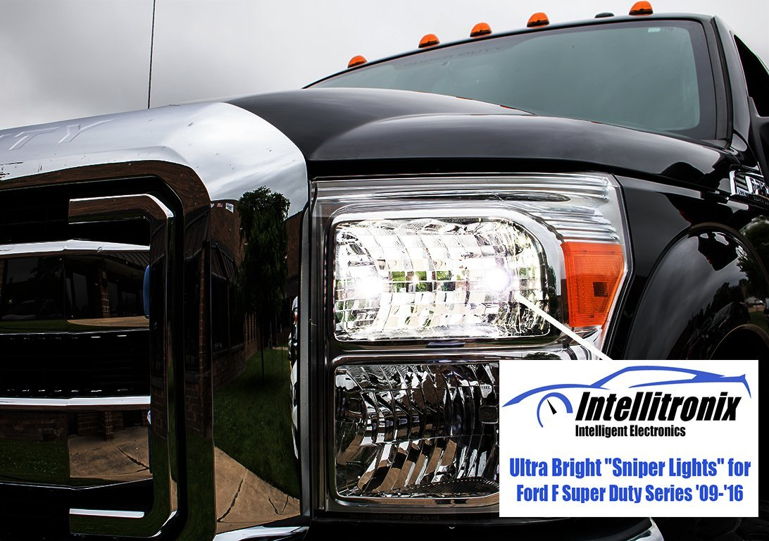 Ultra Bright''Sniper Lights'' for Ford F Super Duty Series '09-'16 (2) by Intellitronix Corp.