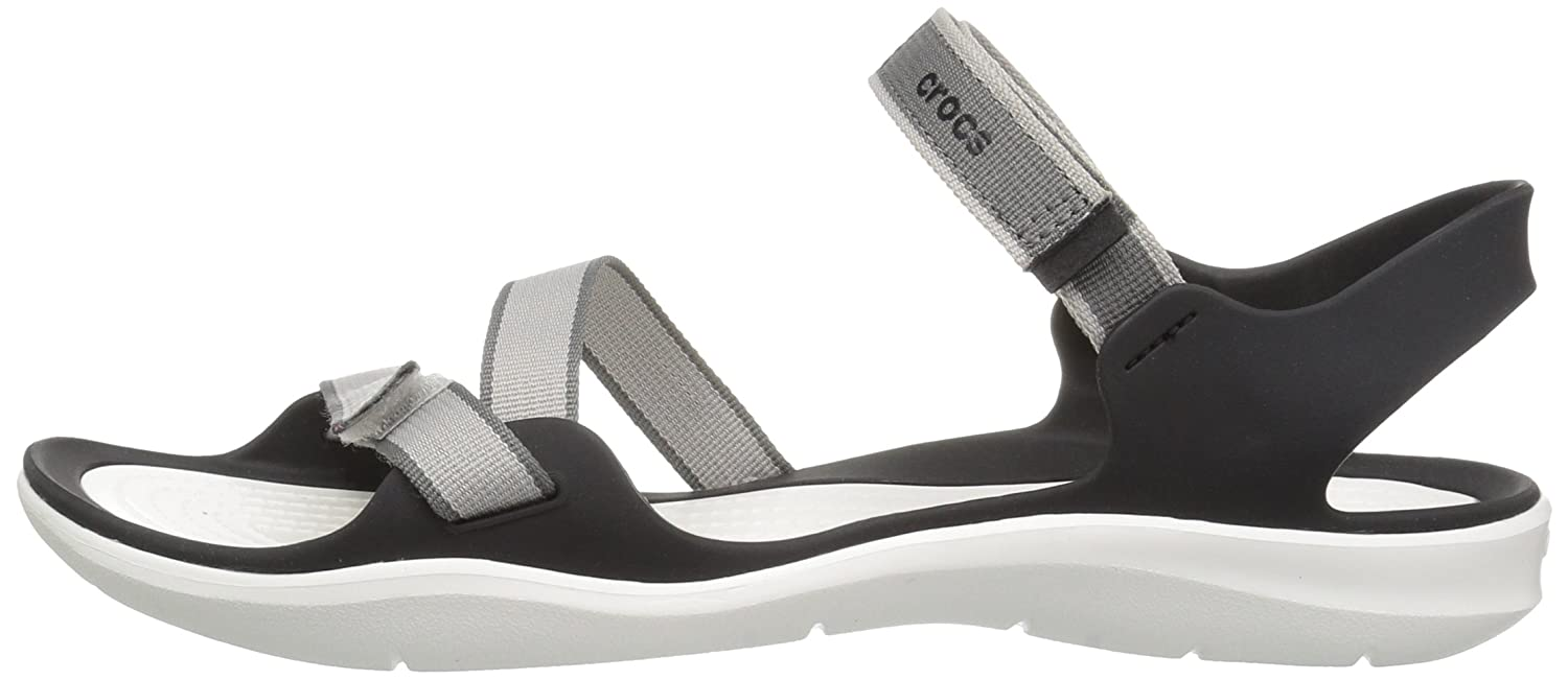Crocs Women's Swiftwater Webbing Sandal B01N0RTTX1 9 B(M) US|Pearl White