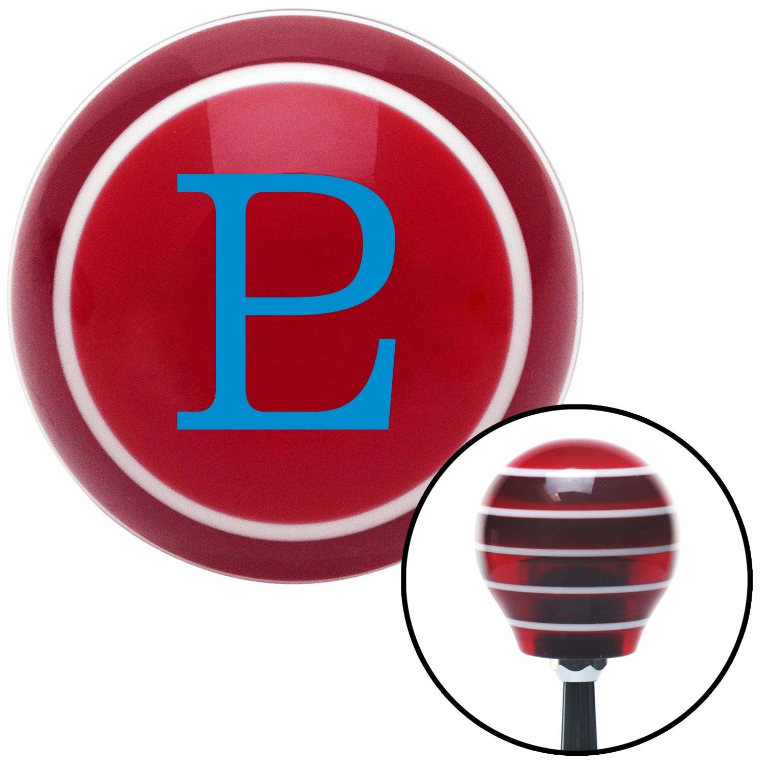 Blue Pluto American Shifter 119450 Red Stripe Shift Knob with M16 x 1.5 Insert