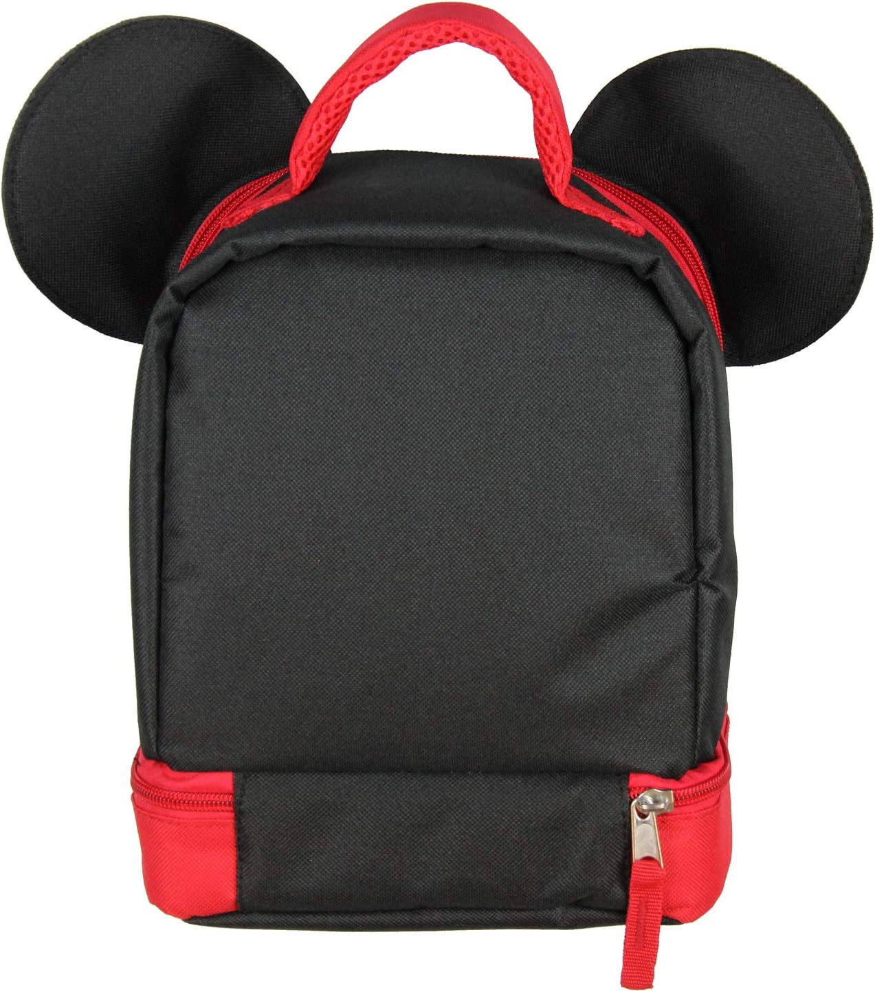 Mickey Mouse Dual Compartment 3D Ears Winking Mickey Insulated Lunch Box