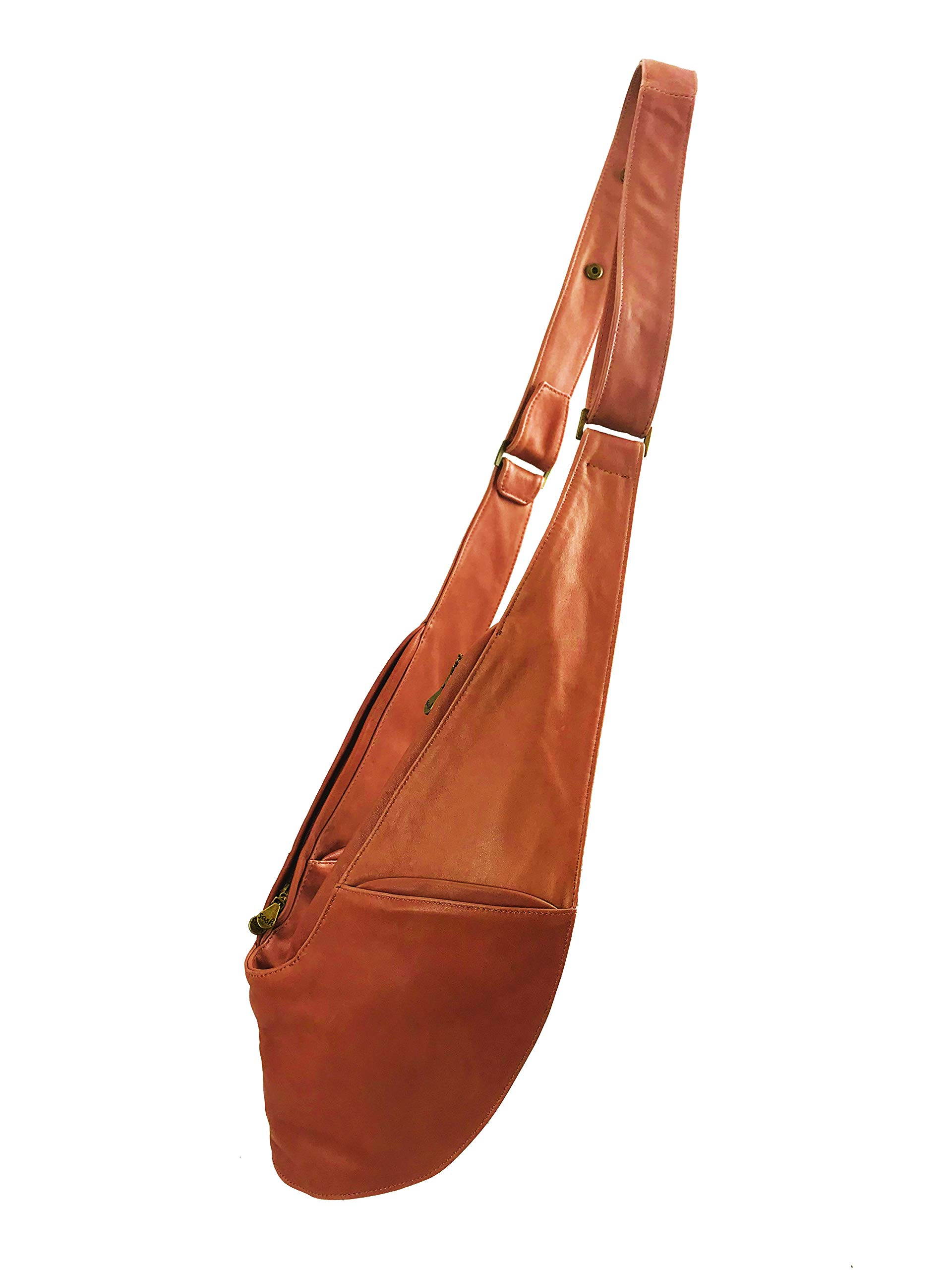 Womens Crossbody Bag by SASH - Over The Shoulder Cross Body Purse (Caramel Genuine Leather)