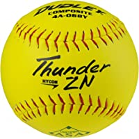 """Dudley ASA Thunder Hycon Zn Comp Slow Pitch 12"""" Softballs 12 Ball Pack"""
