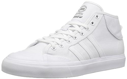 quality design 93185 28cbf Adidas Matchcourt Mid (white/white/white) Skate Shoes-8: Amazon.co ...