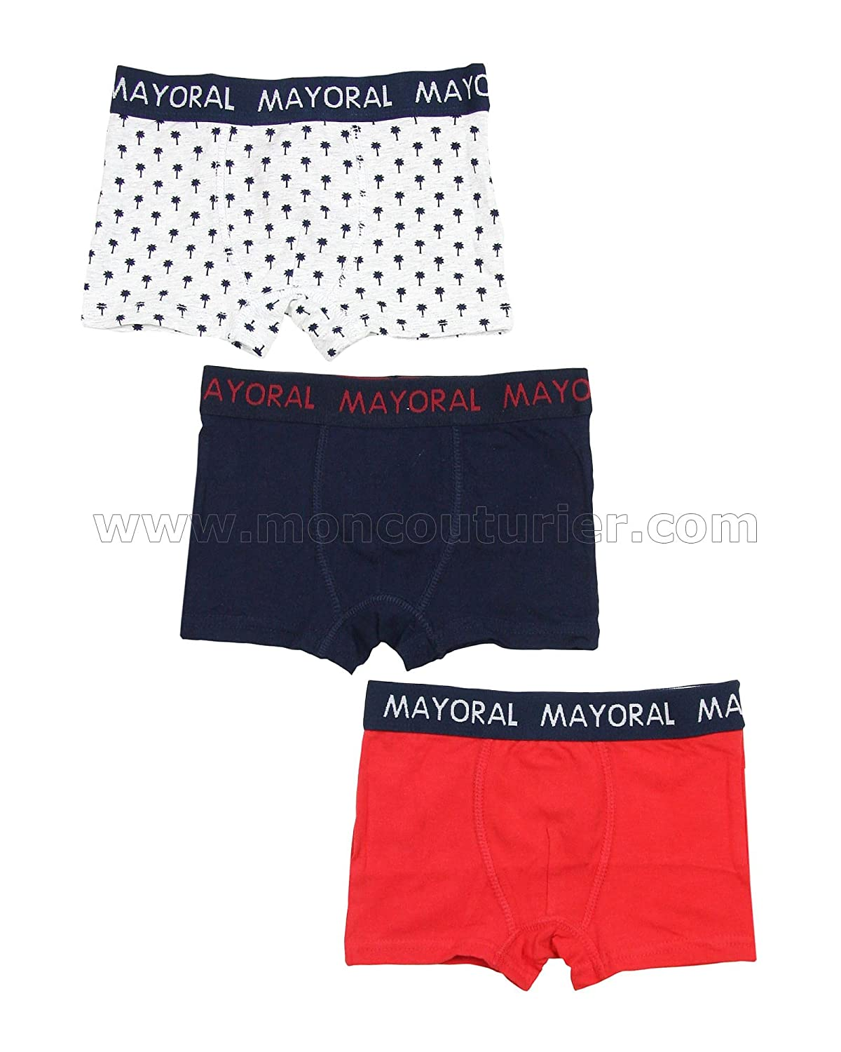 Mayoral Boy's 3-piece Boxers Set , Sizes 2-9
