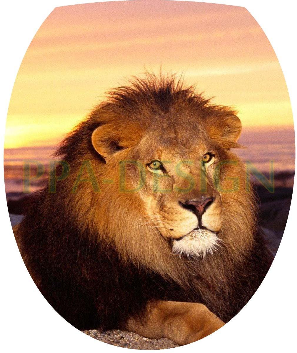 Sticker Autocollant Abattant WC Lion 35x42cm SAWC0221