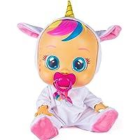 Bebés Llorones Fantasy Dreamy Unicornio - Muñeca interactiva que llora de verdad con chupete y pijama brillante de…