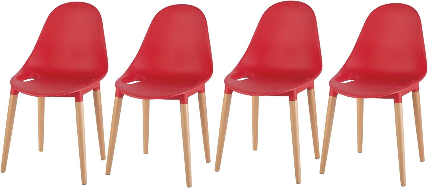 Tesco NEW Palermo Set of 11 Stacking Dining Chairs Plastic Seat