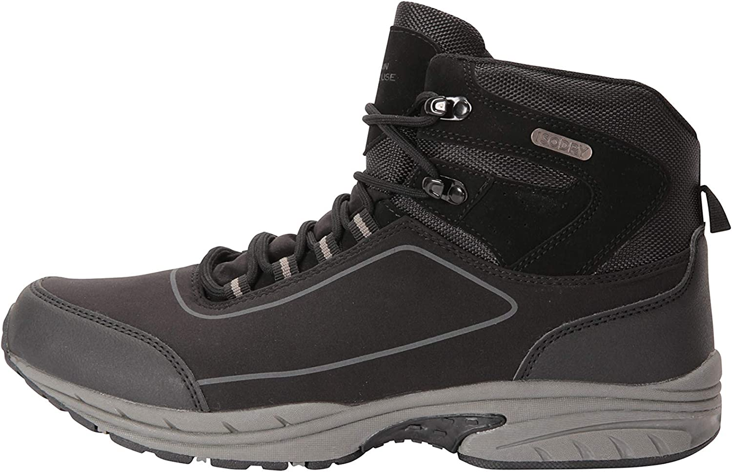 Great for Comfort /& Style Mountain Warehouse Ramble Mens Softshell Boots Mesh Lining High Traction Outsole EVA Cushion Hiking Boots Waterproof Upper Walking Shoes