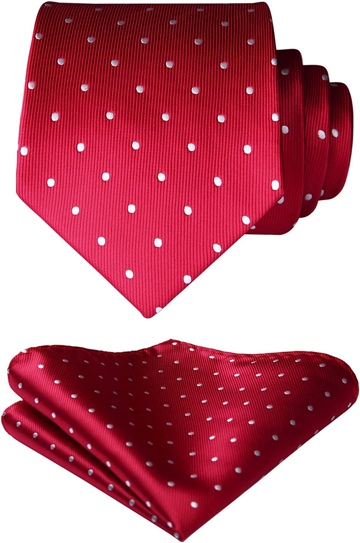 HISDERN Mens Polka Dot Wedding Party Pocket Square Handkerchief