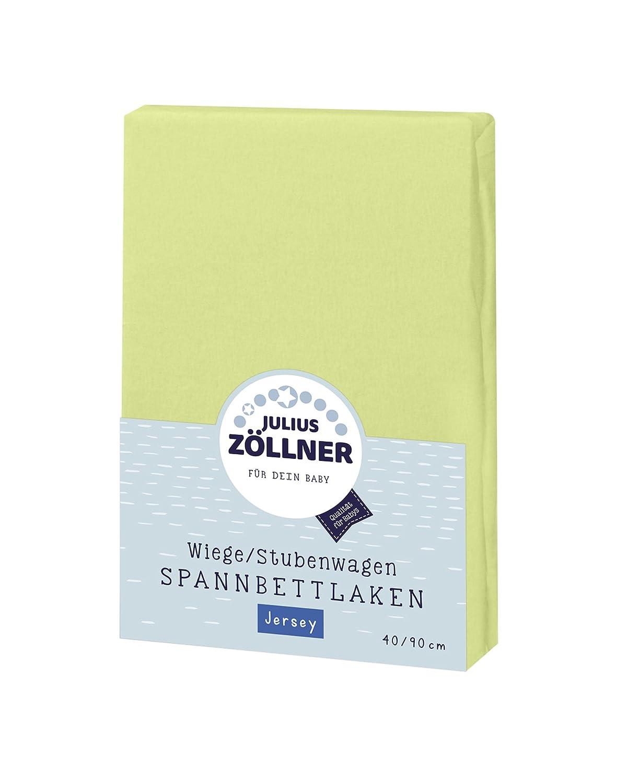 gr/ün Farbe Julius Z/öllner 8330013340 Jersey Spannbetttuch f/ür Wiegen 90x40 und Stubenwagen