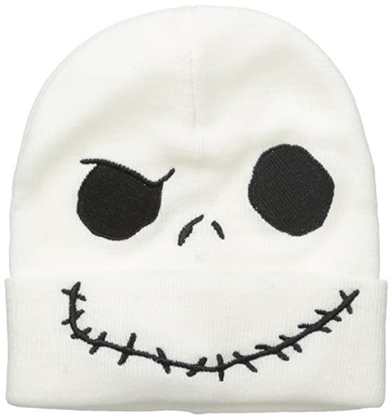 58767dfd82cdf Nightmare Before Christmas Men s Jack Skellington Cuff Knit Beanie ...