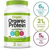 Orgain Organic Plant Based Protein Powder, Iced Matcha Latte - Vegan, Low Net Carbs, Non Dairy, Gluten Free, Lactose Free, No Sugar Added, Soy Free, Kosher, Non-GMO, 2.03 Pound