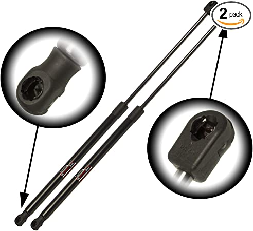 WGS-592-2,Black Left and Right Side Wisconsin Auto Supply Two Rear Hatch Gas Charged Lift Supports for 2009-2015 Honda Pilot Without Power Rear Liftgate