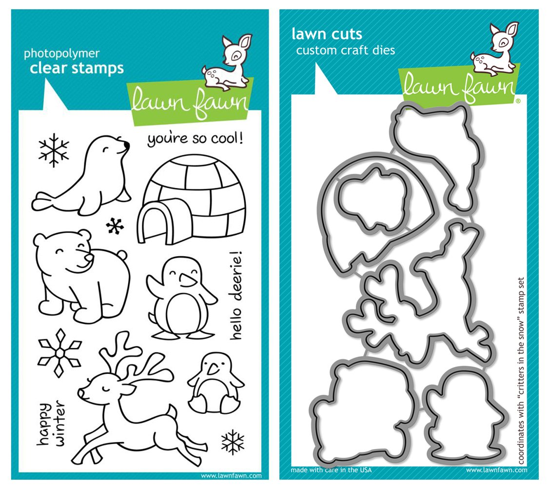 Lawn Fawn ''Critters in the Snow'' Clear Stamp and Die Set