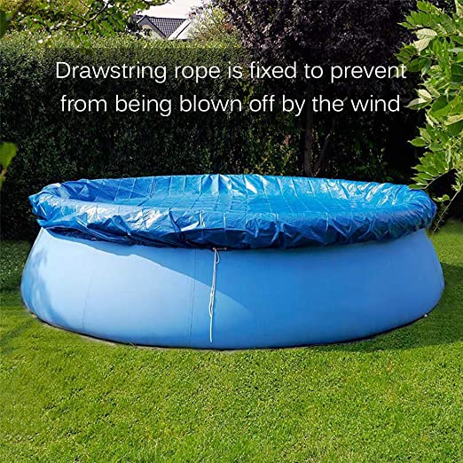 Details about  /Round Shape PE Waterproof Rain Dust Proof Swimming Pool Cover Protective Cl Home
