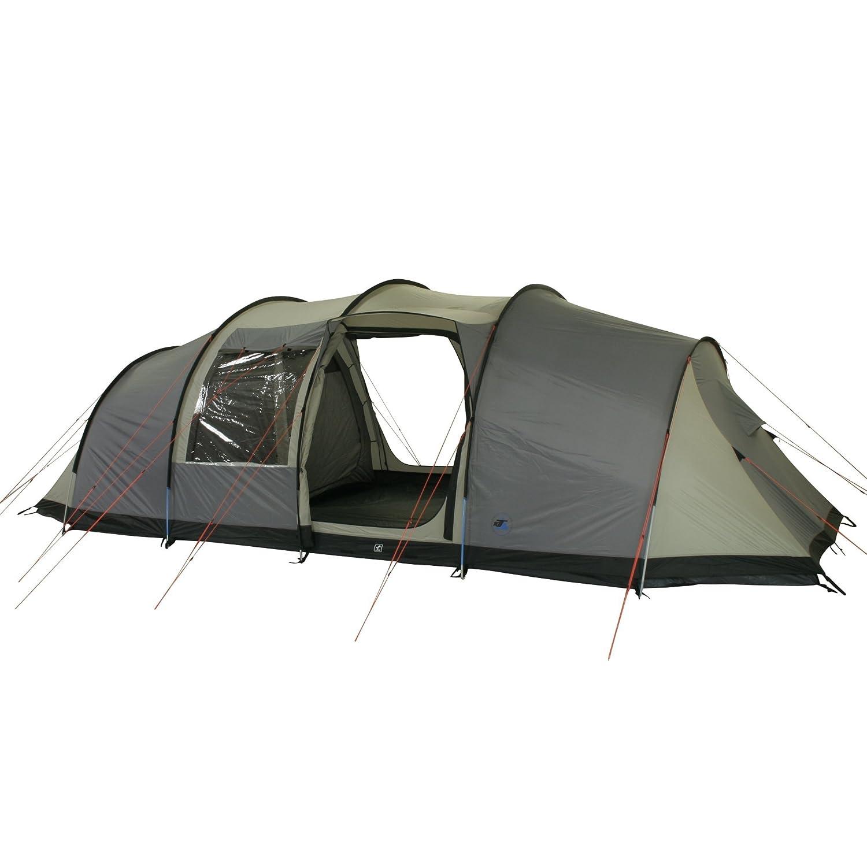 10T Camping-Zelt Mento 8 Vis-A-Vis Tunnelzelt mit Schlafkabine für 8 Personen Outdoor Familienzelt mit Wohnraum, Dauerbelüftung, eingenähte Bodenwanne, wasserdicht mit 5000mm Wassersäule