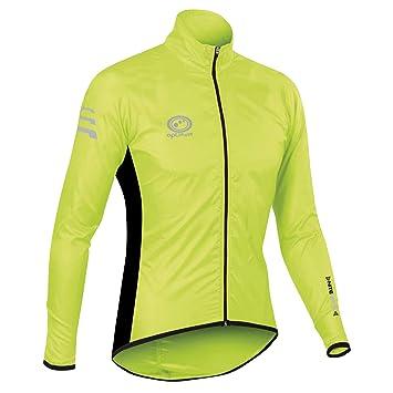 c78d7eaf658 Optimum Men s Nitebrite Cycling Rain Jacket  Amazon.co.uk  Sports ...