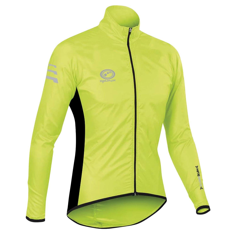 Optimum Nitebrite Chaqueta Impermeable para Ciclismo, Hombre, Verde