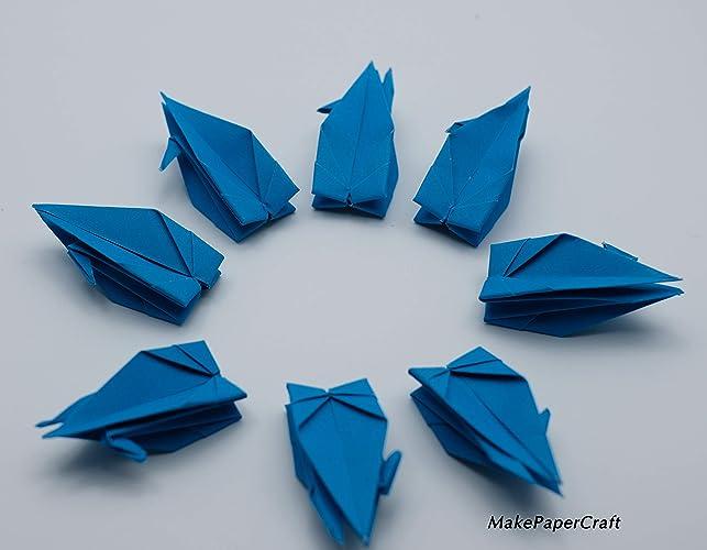 Amazon.com: 100 3 inch Origami paper cranes Dark Blue ...