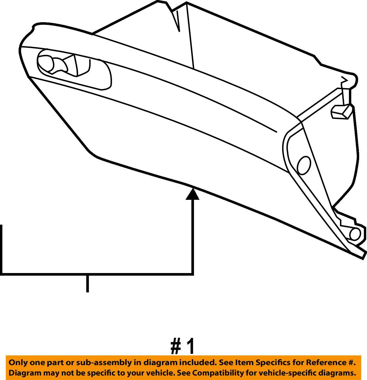 Honda Genuine 77510-T2F-A11ZB Glove Box Assembly