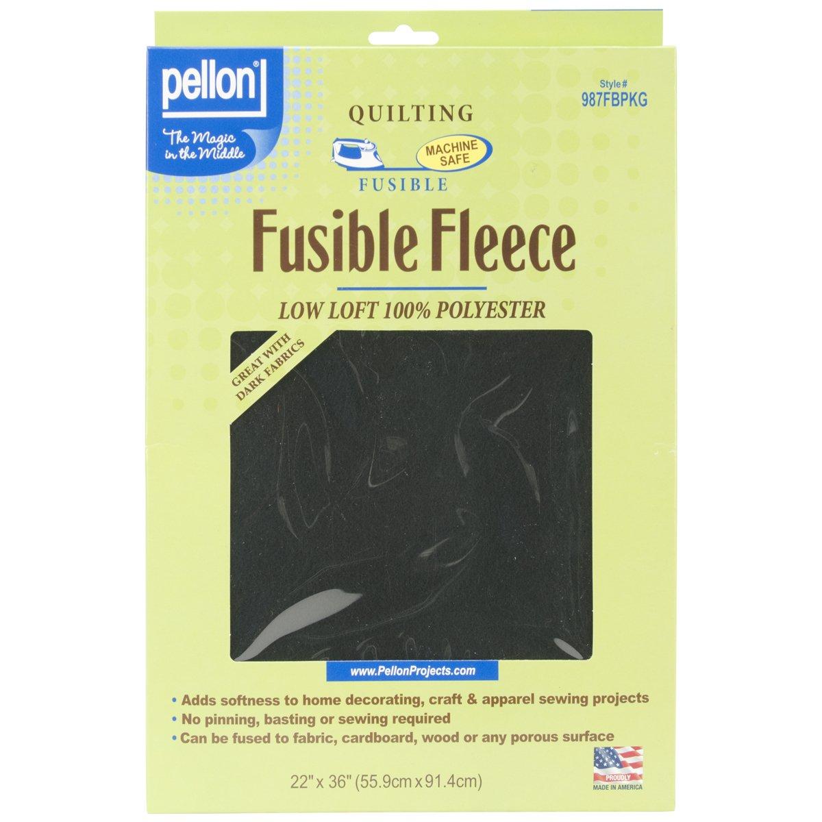 Pellon Fusible Fleece, 22-Inch x 36-Inch, Black 987FBPKG