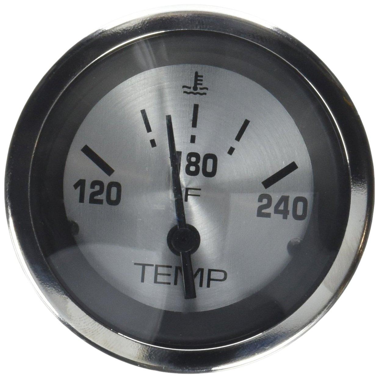 2 2 Teleflex Sierra International 63480P Sterling Scratch Resistant Water Temperature Gauge