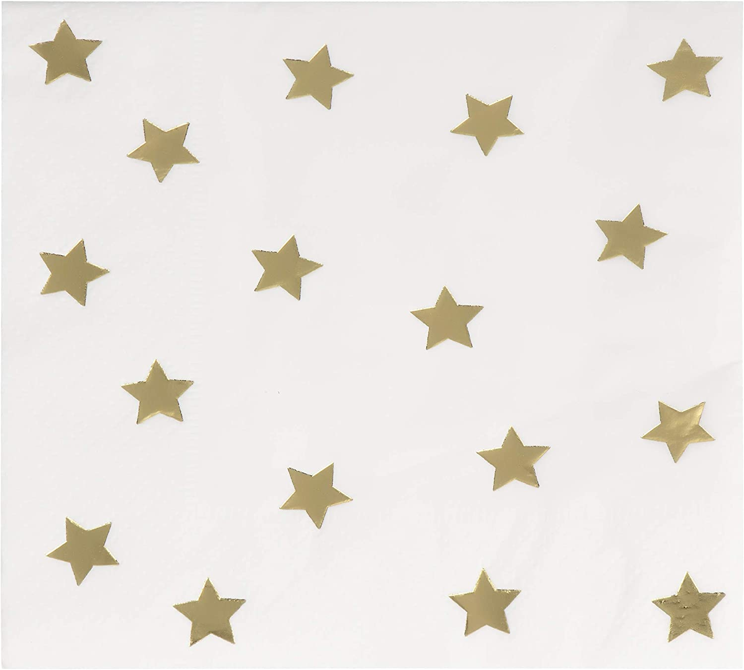 Juvale 50 Pack of Gold Foil Star Paper Cocktail Napkins (5 x 5 Inches)