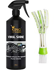 King of Sheen Vinyl Shine - Limpiador para salpicadero e interior del coche, mejora el interior de su coche sin esfuerzo, 500ml