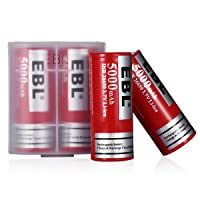 EBL Pack of 4 5000mAh 3.7 Volt 26650 Battery Rechargeable