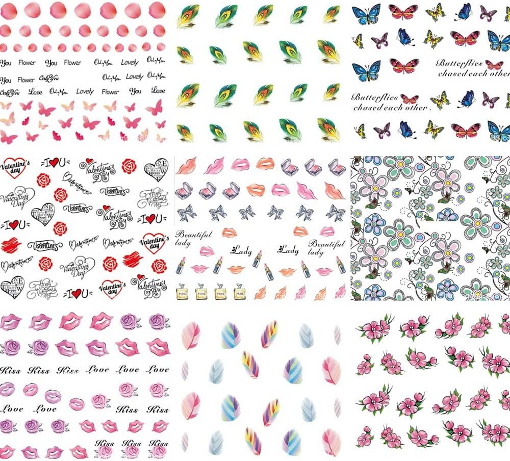 Fun Heart Stickers 54 Total