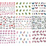BEETEST 50 Hojas Surtido Pegatina Decoracion para las Uñas Decal DIY uñas herramienta de decoración arte adhesivos uñas Pegatinas