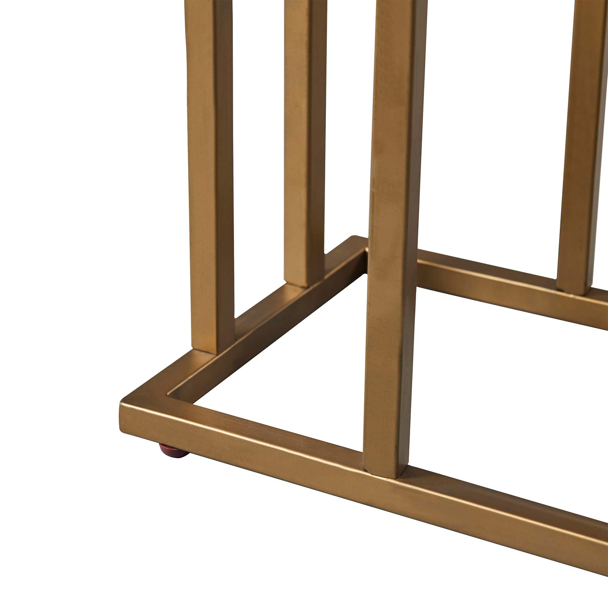 Versanora - Marmo C Shape Table - Faux Marble /Brass by Versanora (Image #9)