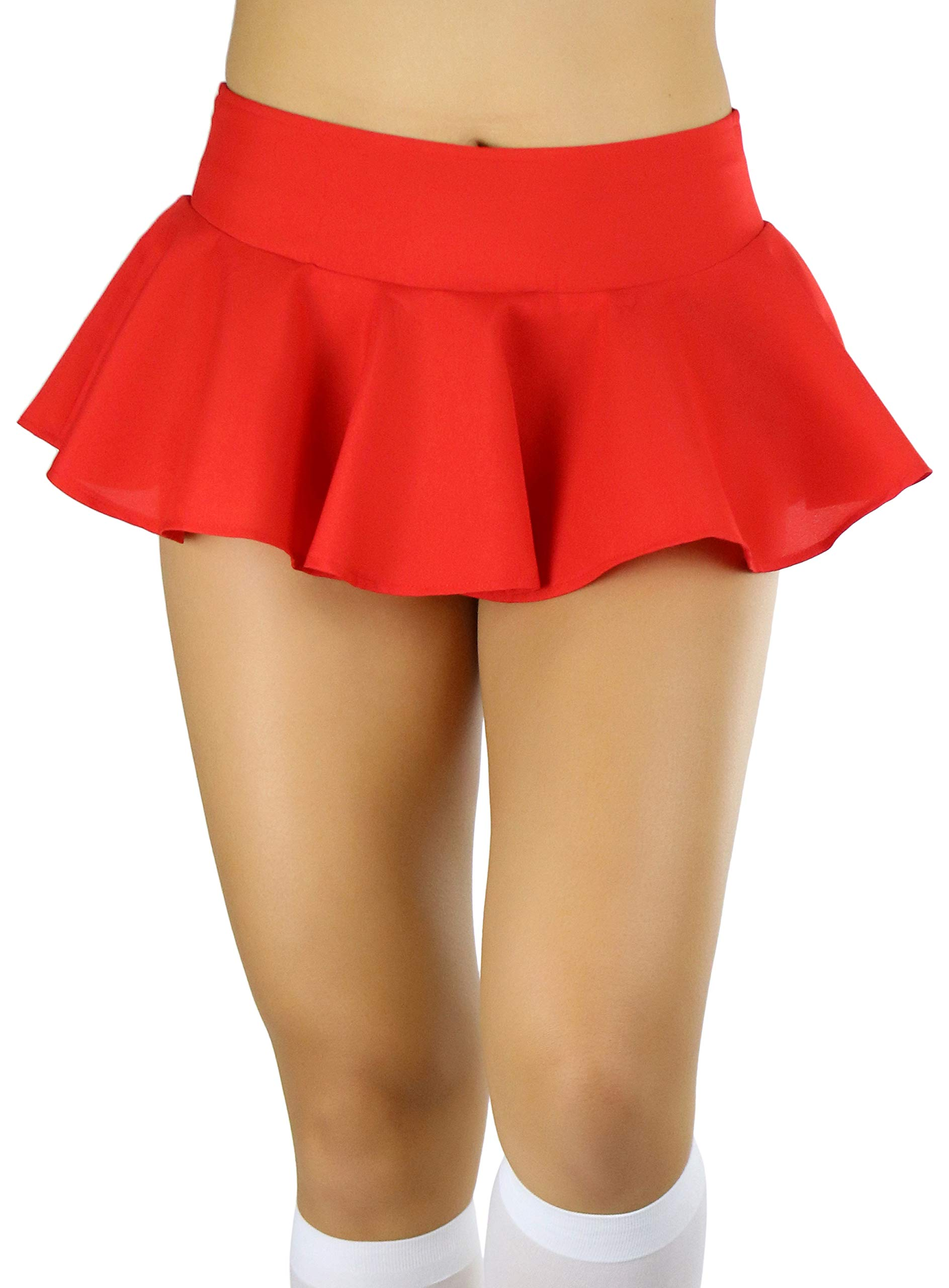 ToBeInStyle Women's Wavy Flirty Colorful Party Micro-Mini Novelty Skirt