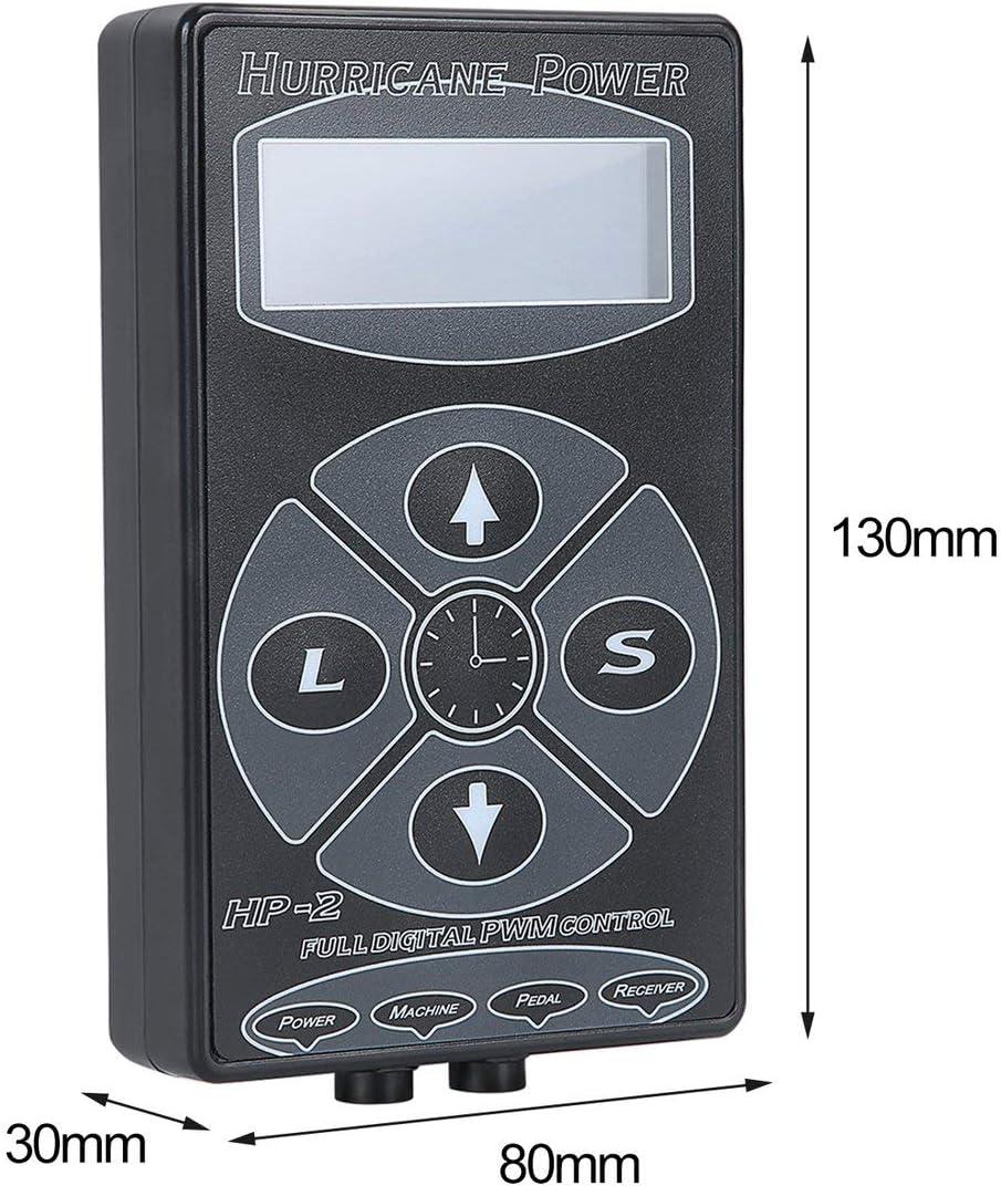 Monllack HP-2 T/ätowier-Netzteil Hurricane Professionelles Netzteil Digitale Dual-LCD-Anzeige T/ätowiermaschinen
