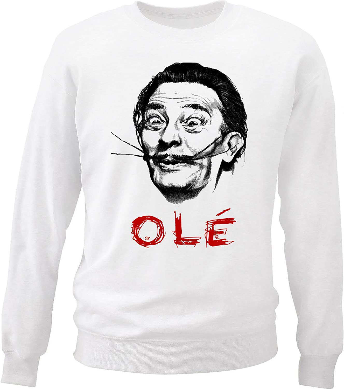 Teesquare1st Mens DALI White Sweatshirt