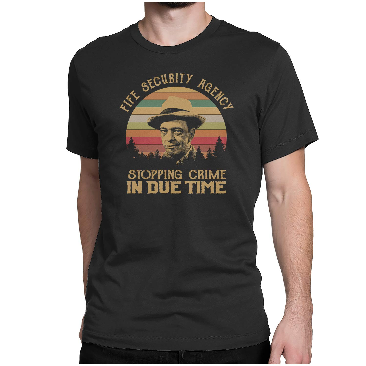 Vintage Retro T-Shirt FIFE Security Agency Stopping Crime in Due TIME