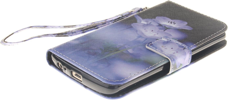GOCDLJ LG G3 H/ülle Muster PU Leder Flip Cover Tasche Ledertasche Handytasche Schutzh/ülle Handyh/ülle Case Etui Wallet Lanyard Strap Shell Design Blaue Schmetterlingsblume