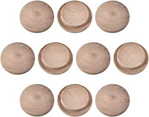 uxcell Wood Button Top Plugs 9/16 Inch Cherry Hardwood Furniture Plugs 25 Pack
