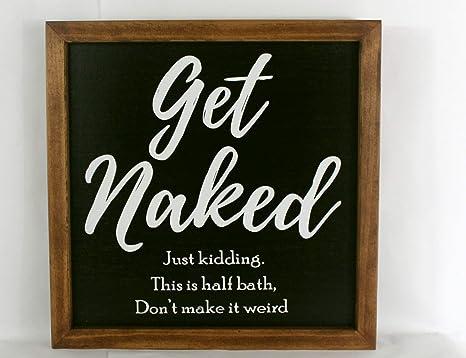 Amazon Com Imousde Half Bath Framed Wood Signs For Home