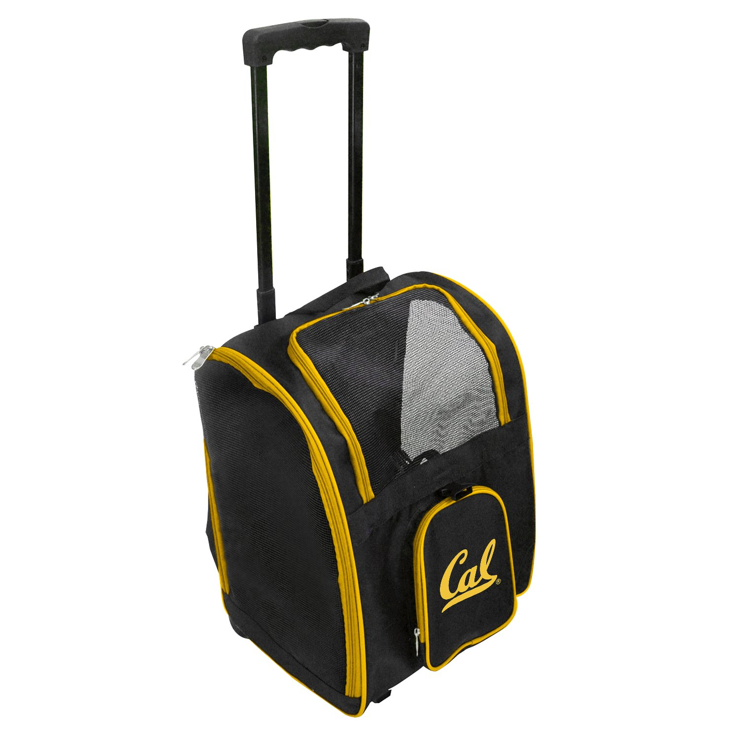 Denco NCAA California Berkeley Golden Bears Premium Wheeled Pet Carrier