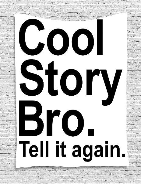 ABAKUHAUS Diciendo Tapiz de Pared, Historia Fresca Bro Hipster ...
