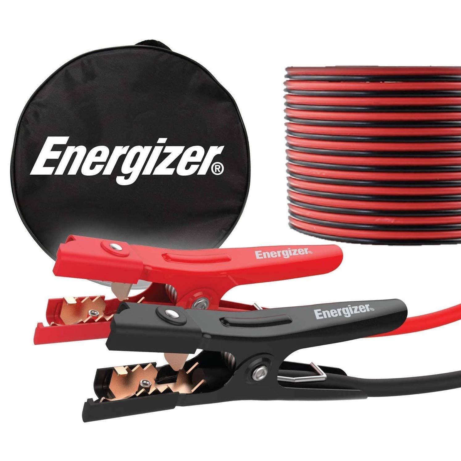 Energizer Jumper Cables for Car Battery, Heavy Duty Automotive Booster Cables for Jump Starting Dead or Weak Batteries with Carrying Bag Included (16-Feet (4-Gauge)