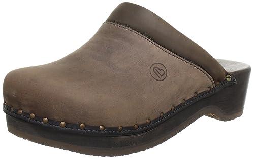 Berkemann Velours Toeffler 404 - Zuecos de ante para mujer, color marrón, talla 45 1/3